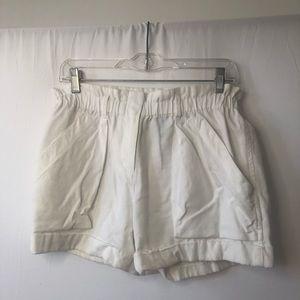 BCBG Maxmazria White Paperbag Shorts